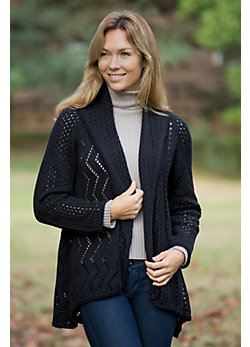 Women's Asha Cocoon Handmade Cotton Cardigan Sweater