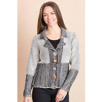 Women's Delson Handmade Cotton Cardigan Sweater, 07 Cream, Size M / L (10-12) Western & Country