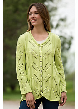 Women's Global Button Cotton Cardigan Sweater