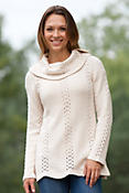 Women's Hampton Handknit Cotton Turtleneck Sweater
