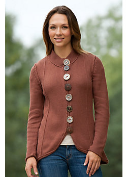 Women's Zyla Handmade Cotton Cardigan Sweater