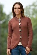 Women's Zyla Handknit Cotton Cardigan Sweater