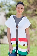 Women's Sunshine Handmade Hooded Cotton Vest