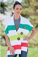 Women's Tidal Stripe Handmade Cotton Wrap