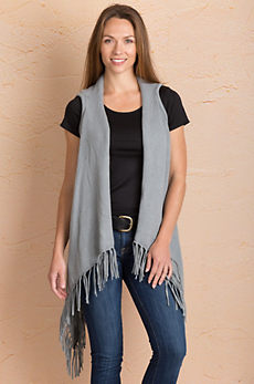 Mona Waterfall Cotton Sweater Vest
