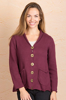 Hannah Cotton Cardigan Sweater