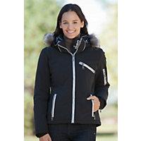 Women's Skea Gili Parka With Silver Fox Fur Trim, Black, Size 12 Western & Country