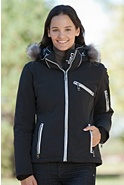 Women's Skea Gili Parka with Silver Fox Fur Trim