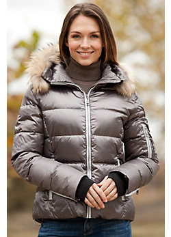Women's Skea Chloe Down Parka with Detachable Raccoon Fur Collar