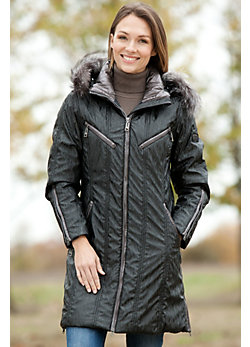 Skea Anna Parka with Detachable Fox Fur Hood