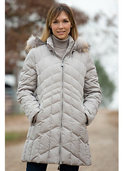 Women's Annaleesa Down Jacket with Raccoon Fur Trim