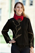Women's Lorna Poppy Boiled Wool Jacket
