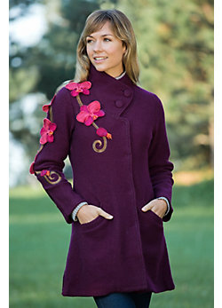 Women's Klarinda Orchid Boiled Wool Coat