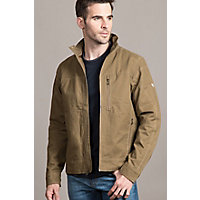 Men's Kuhl Burr Zip-Front Canvas Jacket, KHAKI, Size SMALL