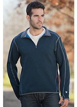 Men's Kuhl Sabr 1/4-Zip Wool-Blend Fleece Pullover