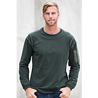 Men's Kuhl Kommando Crew Pullover, Olive, Size Medium (39-41) Western & Country