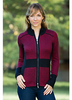 Women's McKenzie Wool-Blend Zip Cardigan Sweater