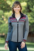 Women's Rory Wool-Blend Zip Cardigan Sweater