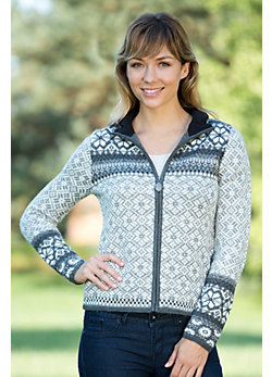Women's Madi Wool-Blend Zip Cardigan Sweater