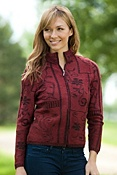 Women's Amithi Zip-Front Alpaca Wool Sweater