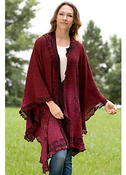 Paiva Hooded Reversible Alpaca Wool Shawl