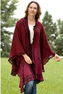 Women's Paiva Hooded Reversible Alpaca Wool Shawl