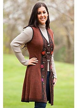 Women's Clair Reversible Alpaca Wool Sweater Vest