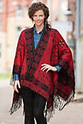 Women's Swirl Reversible Alpaca Wool Shawl