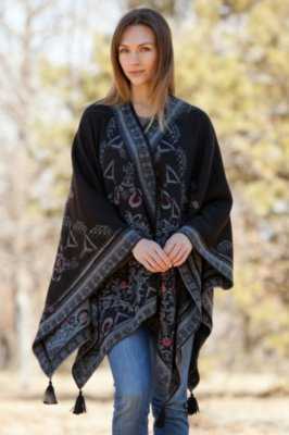Mollie Reversible Alpaca Wool Shawl