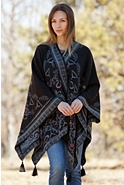 Women's Mollie Reversible Alpaca Wool Shawl