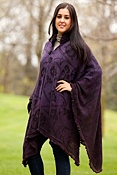 Women's Mabli One-Button Alpaca Wool Poncho