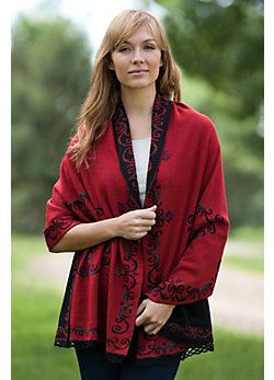 Women's Faylinn Reversible Alpaca Wool Shawl