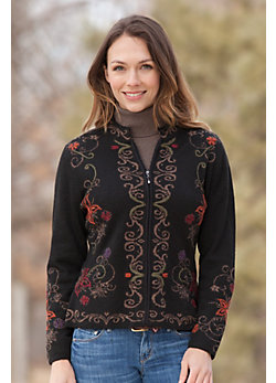 Women's Kelsi Alpaca Wool Zip Cardigan