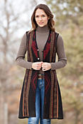 Women's Danette Long Reversible Alpaca Wool Vest