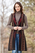 Danette Long Reversible Alpaca Wool Vest