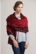 Women's Heather Reversible Alpaca Wool Shawl