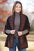 Women's Melanie Reversible Alpaca Wool Shawl