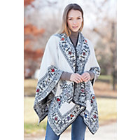 Women's Haven Reversible Alpaca Wool Shawl