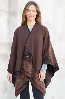 Edith Reversible Alpaca Wool Shawl