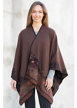 Women's Edith Reversible Alpaca Wool Shawl