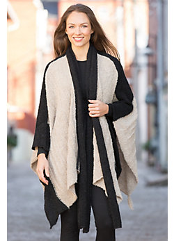 Women's Mary Sue Alpaca Boucle Open Poncho