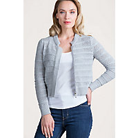 Kayla Cropped Peruvian Organic Cotton Cardigan Sweater