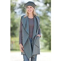 Women's Cascade Fleece Vest, Bayberry, Size Large (14-16) Western & Country