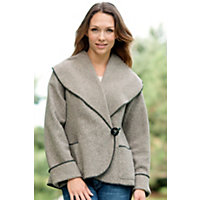 Women's Denver Fleece Jacket, Stone, Size Large (14-16) Western & Country