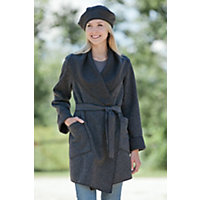 Janska Boulder Fleece Coat COAL Size LARGE 14 16
