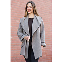 Janska Boulder Fleece Coat STONE Size LARGE 14 16