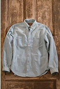 Men's Dereck Railroad Stripe Cotton Shirt