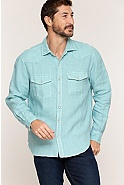 Men's Tom Stone-Washed Linen Shirt