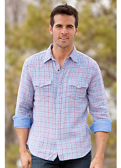 Men's Tom Vintage Plaid Cotton Shirt