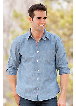 Men's Harry Indigo Cotton Chambray Shirt